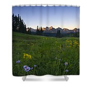 Alpine Dawn Shower Curtain