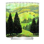 Alpine Hills Shower Curtain