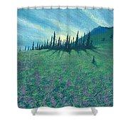 Alpine Hillside Shower Curtain