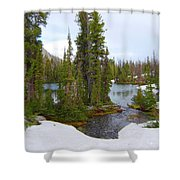 Alpine Lake Area Shower Curtain