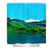 Alpine Lake, Ca 2017, Byy Adam Asar ,  In 3d Watercolor Shower Curtain