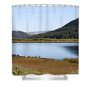 Alpine Lake In The Arapahoe National Forest Shower Curtain