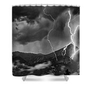 Alpine Lightning Shower Curtain