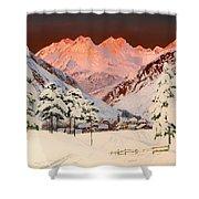 Alpine Mountain Scene Shower Curtain