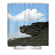 Alpine Tundra - Up In The Clouds Shower Curtain
