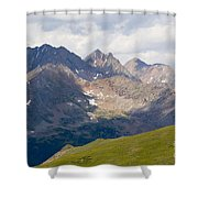 Alpine Tundra And The Colorado Continental Divide Shower Curtain