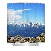 Alpine View In Canada Shower Curtain