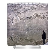 Alpine Winter Reflections Shower Curtain