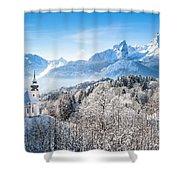 Alpine Winterdreams Shower Curtain