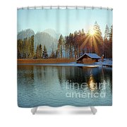 Alplake Winter Version Shower Curtain