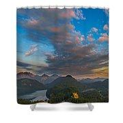 Alpsee Lake Shower Curtain