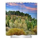 Alpujarras Forest At Sunset Shower Curtain