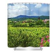 Alsace Landscape, France Shower Curtain