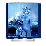 Alta, Roman Goddess Of Water Shower Curtain