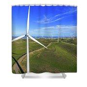 Altamont Windfarm Shower Curtain