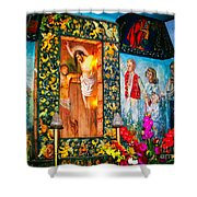 Altar Painted By Famous John Walach Shower Curtain