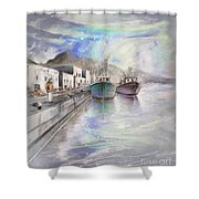 Altea Harbour On The Costa Blanca 01 Shower Curtain