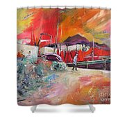 Altea Harbour Spain Shower Curtain
