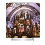 Alter Inside Basilica Of Notre Dame, Montreal, Quebec, Canada. Shower Curtain