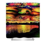 Alternative Cloud Design Shower Curtain