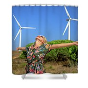 Alternative Energy Concept Shower Curtain