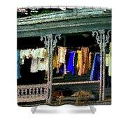 Alton Porch Wash Line No 1 Shower Curtain