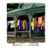 Alton Porch Wash Line No 2 Shower Curtain