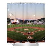 Altoona Curve Baseball Sunset Shower Curtain