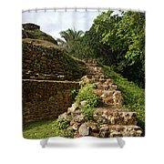 Altun Ha Maya Ruins Shower Curtain