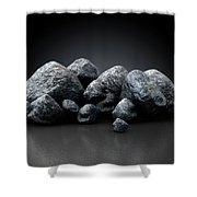 Aluminum Nugget Collection Shower Curtain