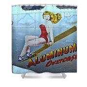 B - 17 Aluminum Overcast Pin-up Shower Curtain