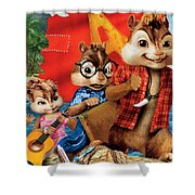 Alvin And The Chipmunks Chipwrecked Shower Curtain