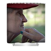 Alzheimer's The Aging Of A Lady Shower Curtain