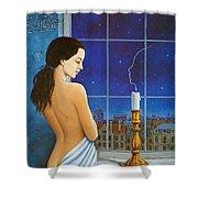am-Rafal Olbinski La Boheme II Rafal Olbinski Shower Curtain