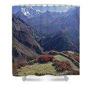 Ama Dablam Nepal In November Shower Curtain
