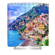 Amalfi Coast At Positano Shower Curtain