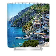 Amalfi Coast, Positano, Italy Shower Curtain