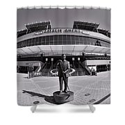Amalie Arena Black And White Shower Curtain