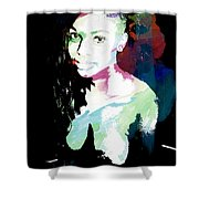 Amani African American Nude Fine Art Painting Print 4966.03 Shower Curtain