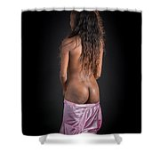 Amani African American Nude Sensual Sexy Fine Art Print 4943.02 Shower Curtain
