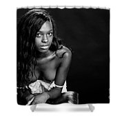 Amani African American Nude Sensual Sexy Fine Art Print In Sepia 4935.01 Shower Curtain
