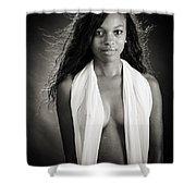 Amani African American Nude Sensual Sexy Fine Art Print In Sepia 4980.01 Shower Curtain