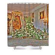 Amaryllis Exhibition In Beloeil Castle, Belgium Shower Curtain