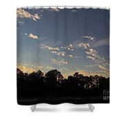 Amazing Clouds Before Sunset Shower Curtain