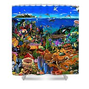 Amazing Coral Reef Shower Curtain