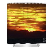 Amazing Fire In The Sky Shower Curtain