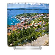 Amazing Historic Town Of Hvar Aerial View Shower Curtain
