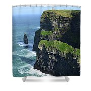 Amazing Look At The Sea Cliff's Of Moher In Ireland Shower Curtain