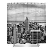 Amazing Manhattan Bw Shower Curtain