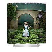 Amazing Maze Shower Curtain